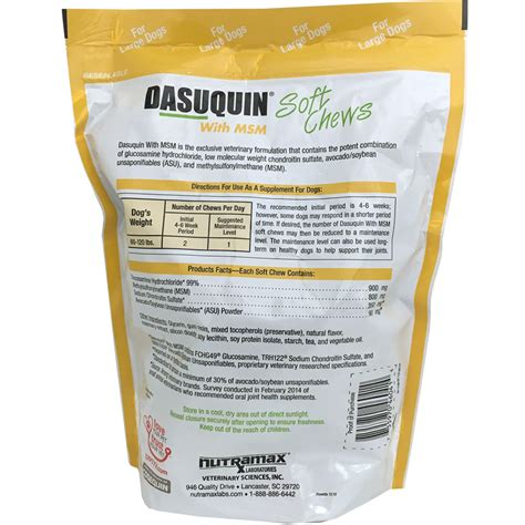 dasuquin with msm for large dogs dasuquin with msm for large dogs 150 soft chews entirelypets