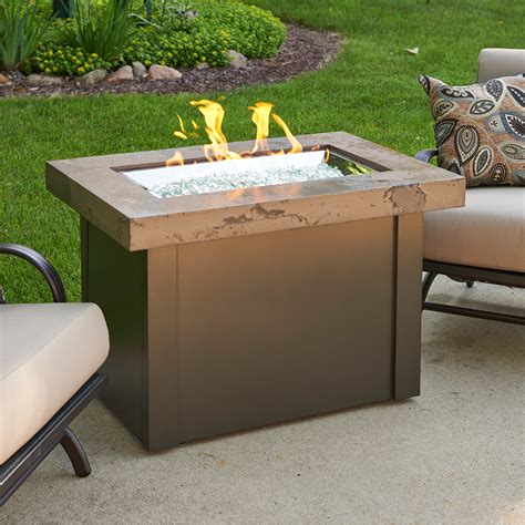 Providence Outdoor Gas Fire Pit Table W Marbleized Noche Gas Firepit Tables