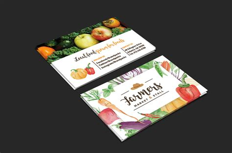 farmers business card templates farmers market business card template for photoshop