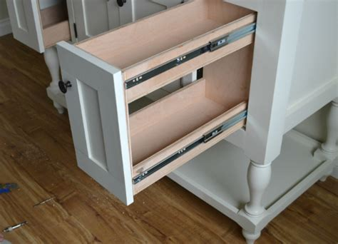 How To Build Kitchen Cabinet Drawers by White Pull Out Drawers Diy Projects