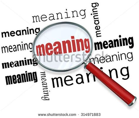 meaning word under magnifying glass illustrate stock
