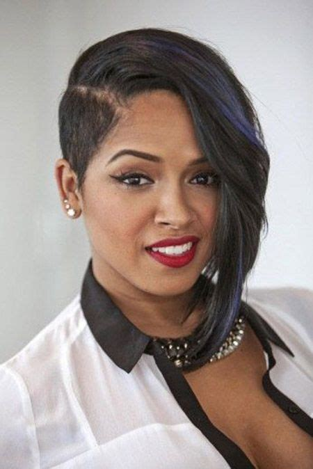Asymetric Hairstyles For Black Women Pintrest   short asymmetrical haircut black women hairstyle
