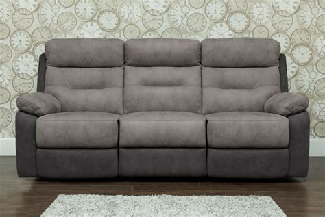Fabric Recliner Sofas Dillon Fabric 3 Seater Recliner Sofa 3rr