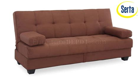 Sofa Bed Poly cocoa microfiber modern sofa bed w wood frame plastic legs