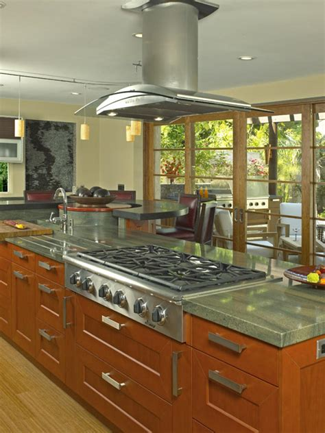 stove on kitchen island amazing kitchens kitchen ideas design with cabinets