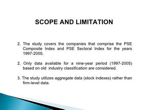 exle of thesis scope and limitation dissertation limitations exle