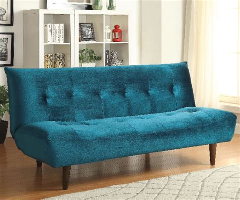 teal futon teal velvet adjustable sofa bed futon with solid wood legs
