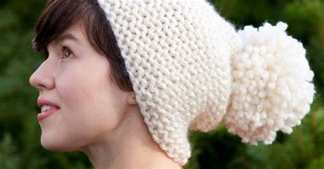 Subtle Version Of The Pom Pom Hat Me Stace by Is Was Pom Pom Hat Pattern