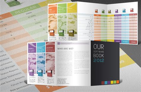 catalog design templates free software catalogue indesign tri fold template