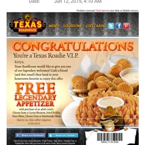 coupon for texas roadhouse | 2017 2018 best car reviews