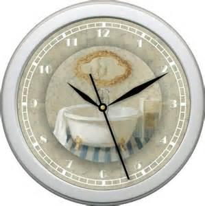 personalized bath time 4 wall clock bathroom decor gift ebay