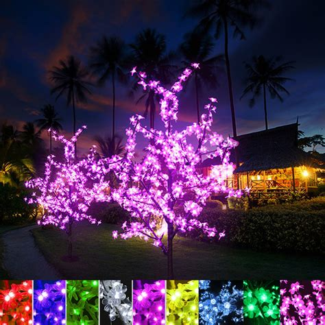 Xmas Led Cherry Blossom Tree Light 0 8m 1 2m 1 5m 1 8m New Blossom Center Lights