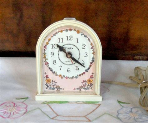 bedroom clock vintage timex clock girls bedroom alarm clock by misstiques
