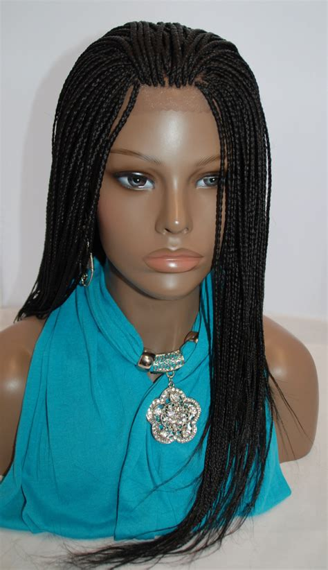 how much hair is needed for micro braids fully hand braided lace front wig micro braids color 1 in