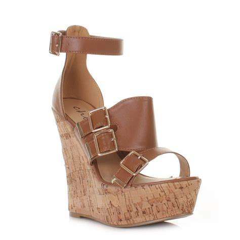 high heel cork wedge sandals wedge womens high heel cork gladiator platform sandals