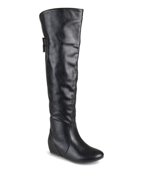 the knee boots wide calf journee collection black wide calf the knee