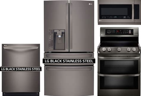lg kitchen appliance package deals lg 4 piece kitchen package with lde4415bd electric range