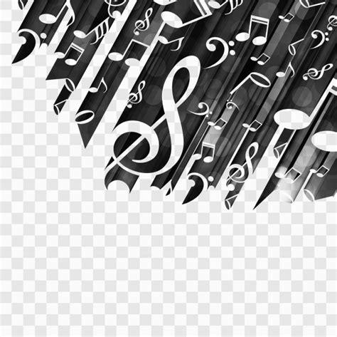 imagenes vectoriales musicales fondo negro con notas musicales descargar vectores gratis