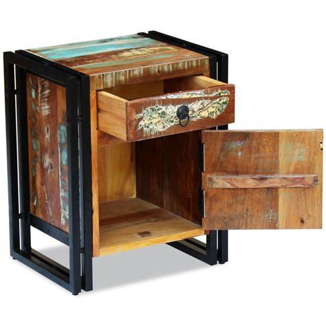 comodini in legno massello vidaxl comodino in legno massello anticato vidaxl it