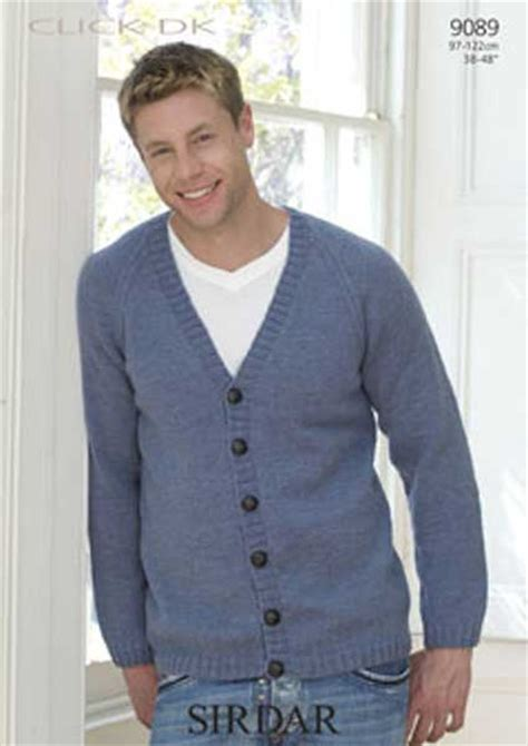 free knitting patterns for mens cardigan sweaters sirdar click dk adults knitting patterns on sale at 163 1 00