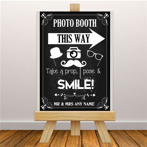 photo booth banner design personalised vintage wedding photo booth sign poster