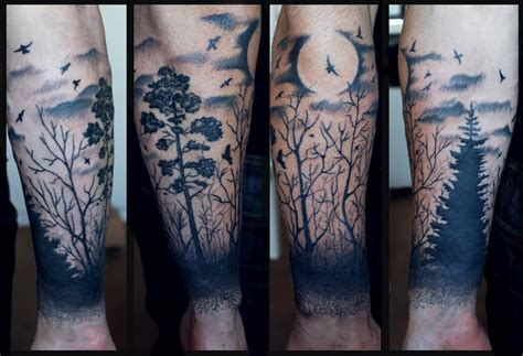 forest tattoo sleeve 20 forest scenery tattoos