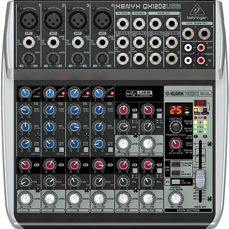 Mixer Behringer Xenyx Qx1202usb Behringer Xenyx Qx1202usb Mixer Musician S Friend