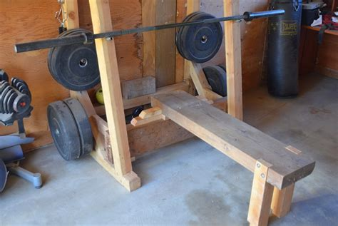 how to make a homemade weight bench diy bench and squat rack home design ideas