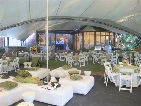 stretch tent garden wedding we could do this with our