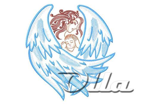 embroidery design angel guardian angel machine embroidery design