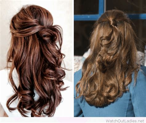Alba Luxy Black pretty hair half updos with curls out