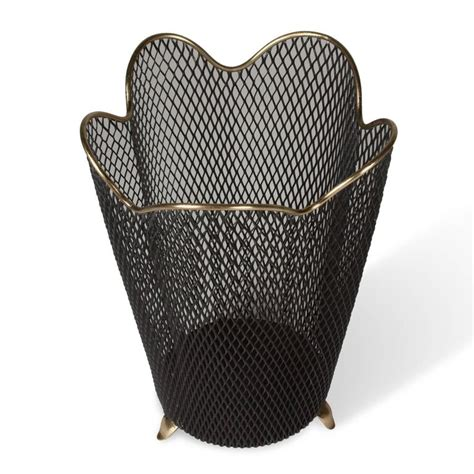 wastepaper basket mesh wastepaper basket by aubock at 1stdibs