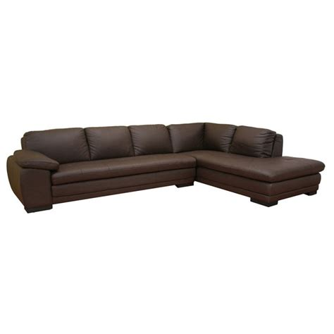 diana brown leather sectional with chaise dcg stores