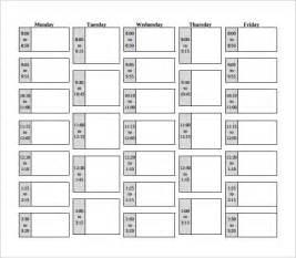 Class Schedule Template   great printable calendars