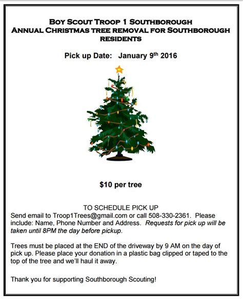 christmas tree pick up christmas tree pickup january 9th