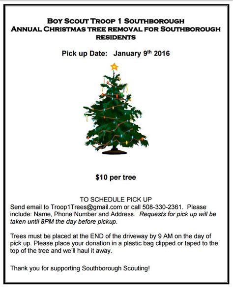 christmas tree pick up christmas tree pick up community bulletin christmas tree