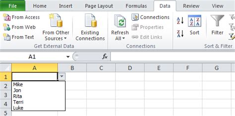 how to create specific type of dropdown menu in asp net data validation list in excel create drop down list