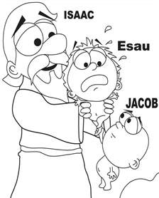 Sunday School Coloring Pages Jacob And Esau | jacob and esau coloring page home bible lessons