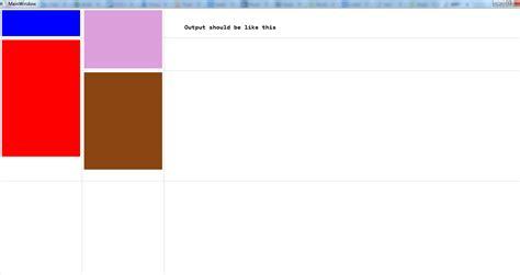 xaml button layout c wpf grid rowspan layout understanding stack overflow