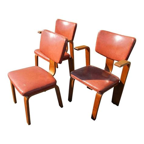 vintage habitat thonet style bentwood quot dinette vintage set of three joe atkinson chair for thonet for