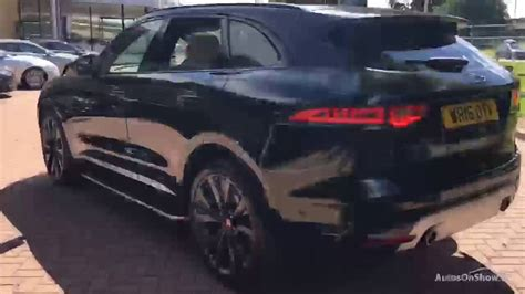 jaguar f pace blacked out jaguar f pace v6 first edition awd black 2016 youtube