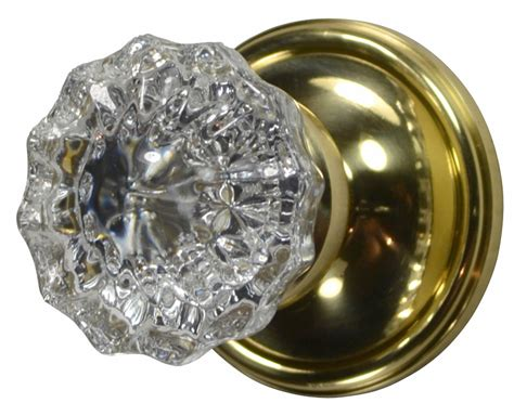 Door Knobs Glass by Regency Fluted Glass Door Knob Plate Polished