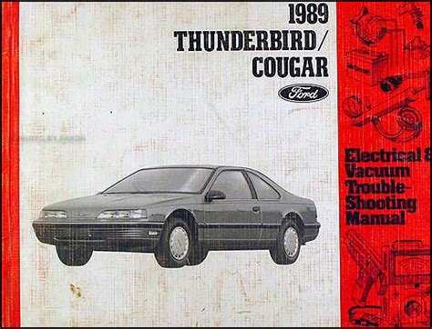 electric and cars manual 2003 ford thunderbird auto manual 1989 ford thunderbird mercury cougar electrical troubleshooting manual