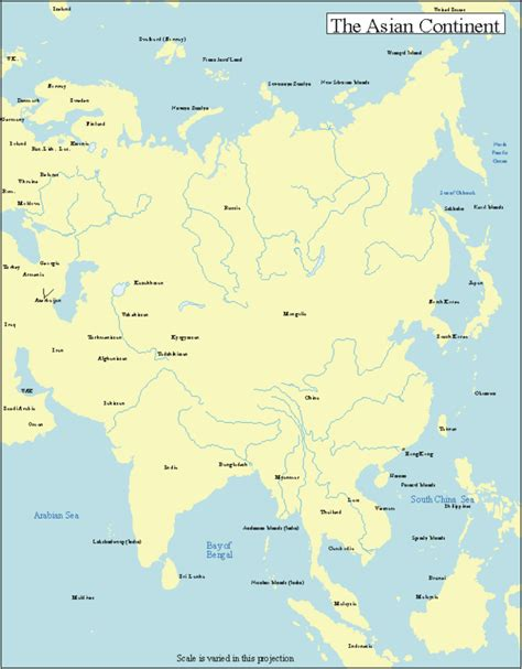 free map of asia printable maps of the 7 continents
