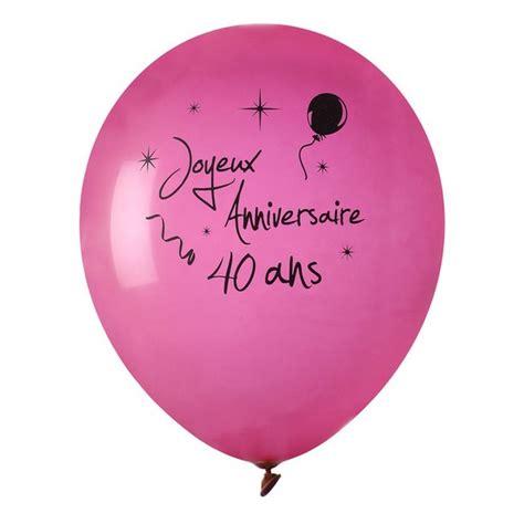 acheter ballon joyeux anniversaire fuschia 40 ans x 8