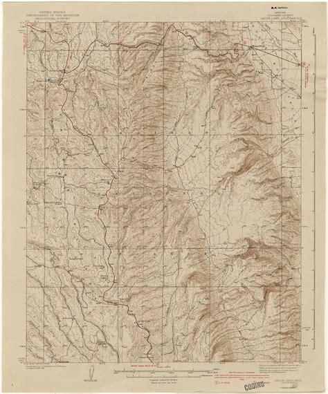 arizona map topographical