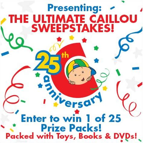The Ultimate Entertaining Giveaway by 17 Best Images About The Ultimate Caillou Sweepstakes On