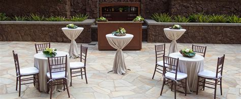 mix of buffet tables and round tables wedding reception tent