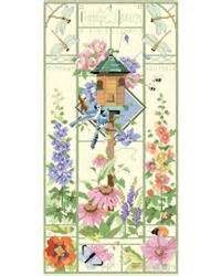 Kain Aida Kristik Cross Stitch 14ct Garden Pearl Blue quot a cottage garden quot by kooler design studio