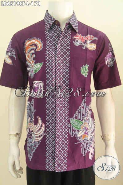 Baju Sekolah Warna Ungu baju kemeja batik halus warna ungu pakaian batik keren berbahan adem proses cap tulis motif